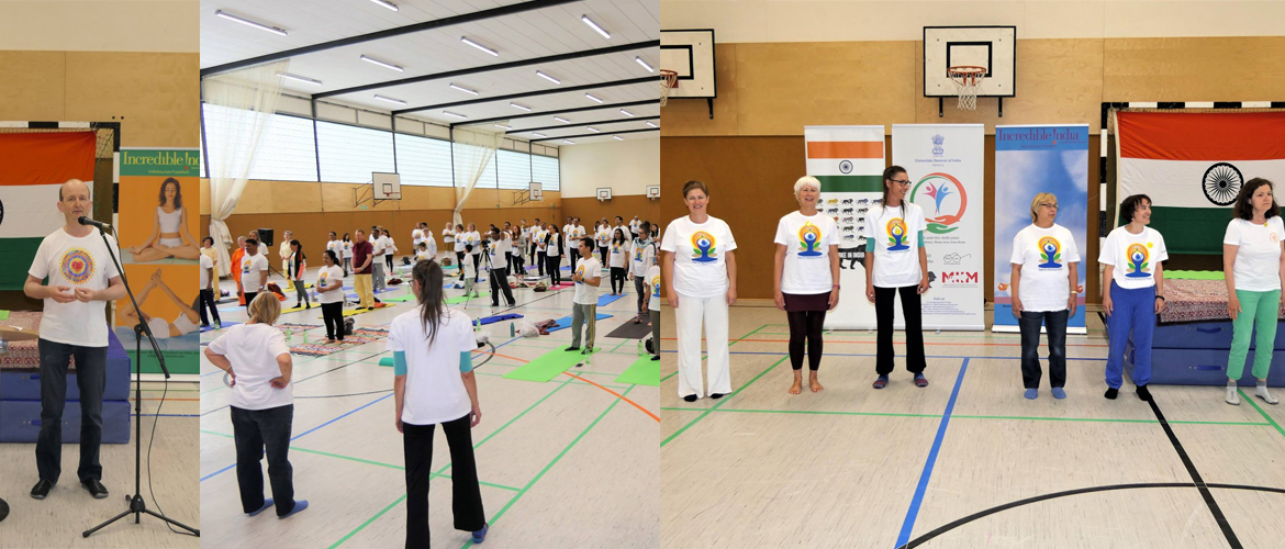 4th International Day of Yoga Celebration by Consulate in Hamburg(June 23, 2018)