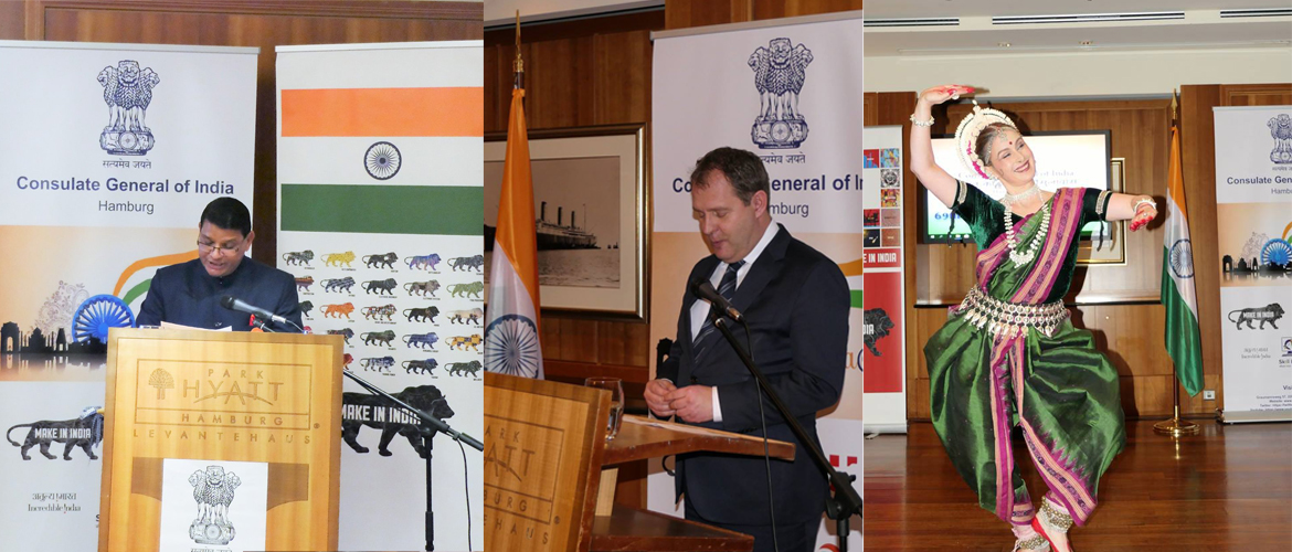 Reception hosted by Consul General on the Occasion of Republic Day of India at Hotel Park Hyatt, Hamburg (January 26,2018)