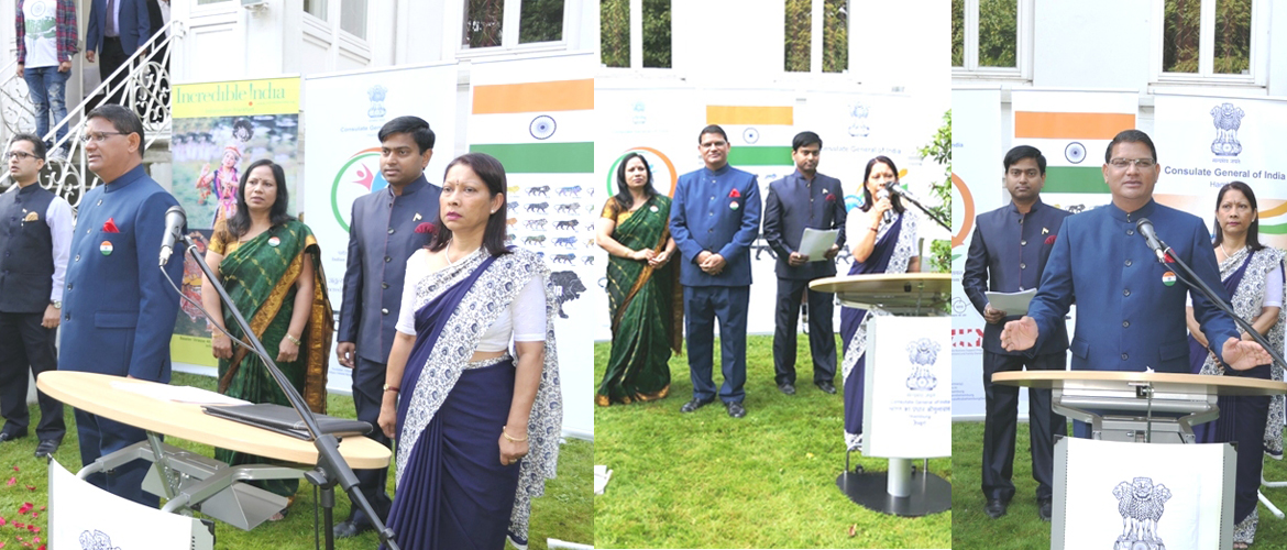 Celebration of Independece Day of India at the Consulate (August 15, 2018)