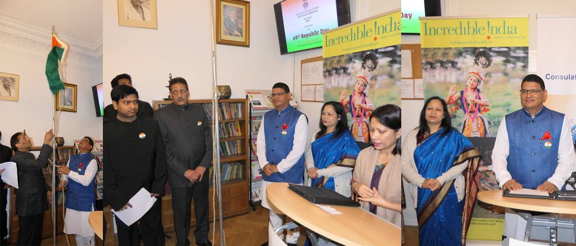 Celebration of 69th Republic Day of India at the Consulate (January 26, 2018)