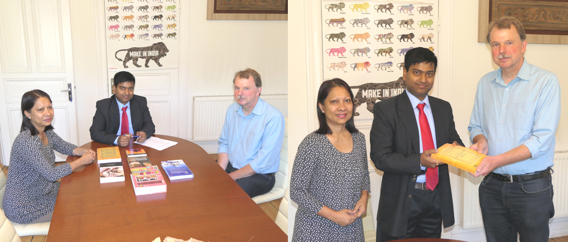 Donation of books for India Corner at Christian Albrecht University, Kiel (July 2, 2018)
